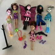 Mattel Monster High Doll Lot 6 Dolls Loose Extra Accessories And Stand Draculaura