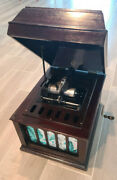 Edison Amberola 50 Mahogany Wind Up Cylinder Phonograph With 62 Cylinders And Case