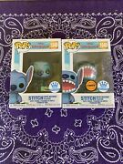 Funko Pop Disney 1048 Stitch With Record Player And Chase Funko Shop Exclusive