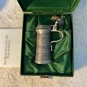 Vtg Pewter-zinn 95 Handcrafted Goebel The Museum Collection Steins Italy