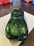 Avon Car Cologne Decanter Green Jaguar Wild Country Aftershave Empty