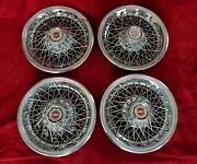 1978 Chevy Wire Wheel Covers 14 Spoke Hubcaps 1979 1980 1981 1982 1983 1984 85