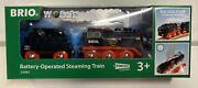Brio World Wooden Railway Battery Operated Steaming Train 33884 New