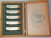 5 Deluxe Innovations N Scale Ogex Oklahoma Gas And Electric Twin Tub Hopper Cars