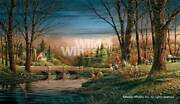 Terry Redlin Spring Fishing Artist's Proof Canvas