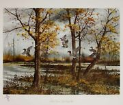 Hagerbaumer Indian Summer Green-winged Teal Signed Limited Ed On Paper W/ Rmq