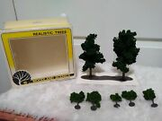 Vtg Woodland Scenics Dark Green Realistic Trees For Layout Ho/n/o Scale Tr1017