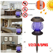 1-5x Outdoor Solar Mosquito Killer Lamp Camping Light Led Electric Insect Zapper