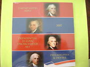 2007 Us Mint Presidential P And D Uncirculated 8-coin Dollar Set