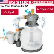 Bestway 2200 Gph Above Ground Swimming Pool Sand Filter Pump System 58500e Us