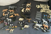 Huge Bundle Of Vintage Britains Toy Zoo And Farm Animals, Accessories 70's Job Lot