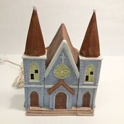 1991 National Decorations Lighted Church Christmas Village Collectibles Holiday