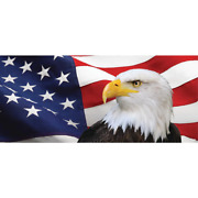 7 Ft. X 16 Ft. Usa Flag And Eagle -patriotic Garage Door Decor Mural For Double