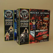 2 Wwe Stunt Action Ring Playset - Raw And Smackdown - Shawn Michaels Dudley Boyz