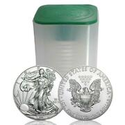 Roll Of 20 - Random 1 Oz Silver American Eagle 1 Packaged In Plastic Tube