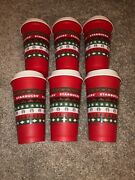 Starbucks Christmas Red Sweater Reusable Plastic Hot Cup