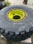 24r21 Michelin Otr Tire M-3 Xzl 16-ply On Wheel-used, 24-21 24x21-our Tire Am