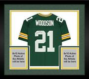 Frmd Charles Woodson Packers Signed Green Mandn Sb Xlv Throwback Replica Jersey