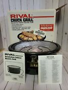 Rival Smokeless Indoor Electric Black Crock Grill Model 5750 Pre-owned