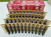 Lgb 12x11000 Brass Curved Track R1=30anddeg R=600mm G-scale Trainand039s