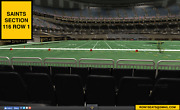 2 Front Row Green Bay Packers At New Orleans Saints Tickets Section 116 Row 1