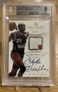 2012-13 Immaculate Collection Prime Premium Patch Clyde Drexler Auto - 19/75