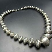 Magnificent Navajo Coin Silver Dollar 50 Cent Quarter Dime Bead Necklace 386g