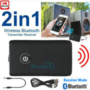 2in1 Bluetooth Transmitter And Receiver Wireless Adapter For Home Stereos/speakers