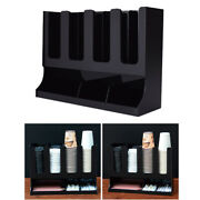 Coffee Condiment Organizer Cup Dispenser Container For Bar Bank Restaurant
