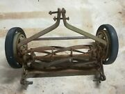 Antique Vintage Metal Great States Push Rotary Lawn Mower Cutter Without Handle
