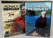 Ronald Reagan This Is The Army/santa Fe Trail Dvd + The Sand Pebbles New