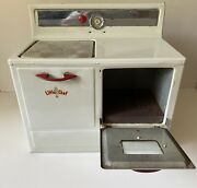 Vintage Little Chef Tin Toy Stove Oven 1950s