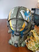 Titanfall 2 Vanguard Collectors Edition Helmet With Stand, Accessories And Scarf