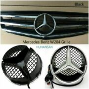For Mercedes-benz C Class W204 C300 C350 Front Grills Black Grille W/led 2008-14