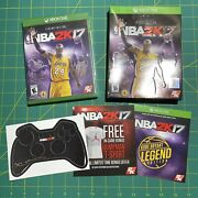 New Nba 2k17 - Legend Edition - Xbox One Sealed - With Controller Skin And Box
