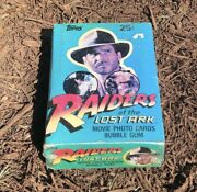 1981 Topps Raiders Of The Lost Ark 36 Pack Wax Box Indiana Jones New Sealed