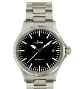 Sinn 556.m Menand039s Watch Automatic 25 Jewels Black Dial Stainless Steel Belt