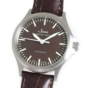 Sinn 556 Watch Menand039s Automatic Ss Brown Leather Belt Brown Dial Case 38mm Good