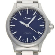 Sinn 556.ib Menand039s Watch Stainless Steel Blue Dial Ss Belt Very Good Boxed