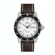 Sinn Wristwatch Med 104.st.sa.iw Automatic White Dial Black Leather Band New