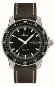 Sinn Wristwatch Men 104.st.sa Automatic Black Dial Leather Band New Authentic