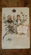1888 Antique Cabinet Card Album Filler - Silver Wedding And Princess Wales