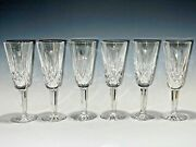 Magnificent Vintage Set Of Six Lismore Essence Waterford Crystal Champagne Flute