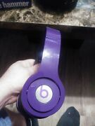 Beats By Dr. Dre Solo Hd Wired On-ear Headphones Purple With Case No Cord