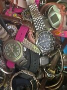 Medium Flat Rate Box Full Of Untested Watches Junk Lot Over 12 Lbs/ Junk Lot