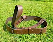 Ww1 Sam Brown Officers Belt Complete With Cross Strap Maker And Date 1914
