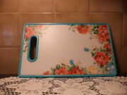 The Pioneer Woman Prototype Vintage Floral Nonslip Cutting Board-9x14 1/2-rare
