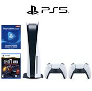 Sony Playstation 5 Ps5 - Disc Version + Extra Controller + Game - Ps Now