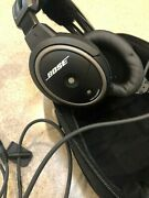 Bose A20 Aviation Headset With Bluetooth Dual Plug Cable - Black - Never Flown