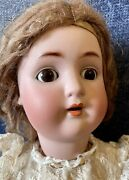 """Antique 26"""" German Bisque Abgsweet Nell 1362 Doll W/mohair Wig And Great Outfit"""
